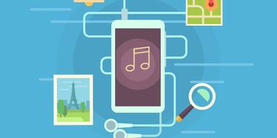 Mobile apps flat vector illustration